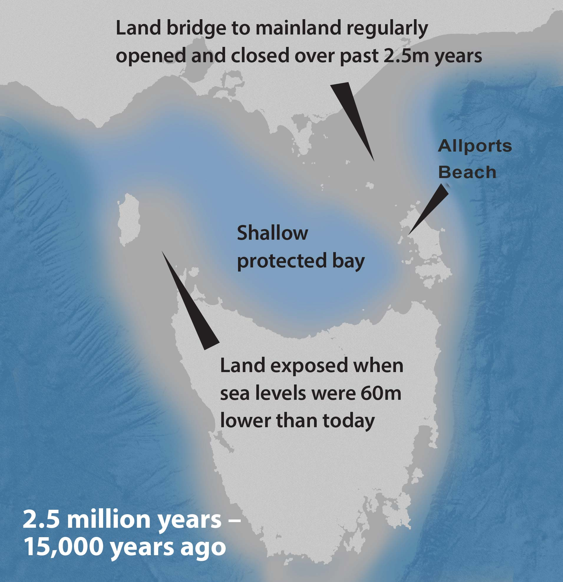bass strait land bridge map